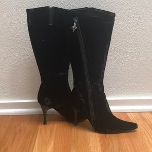 Couture Donald J Pliner high, heeled black boots